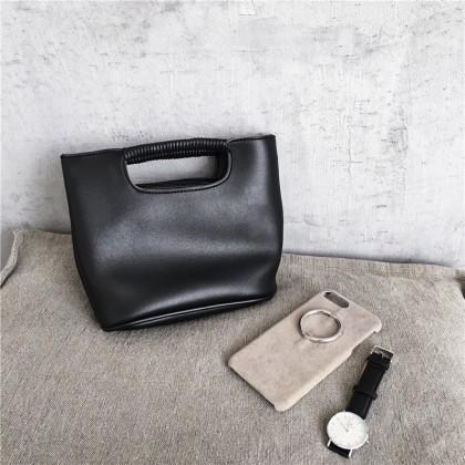 Women Korean Fashion  Soft Leather Two Way Diagonal Handbag