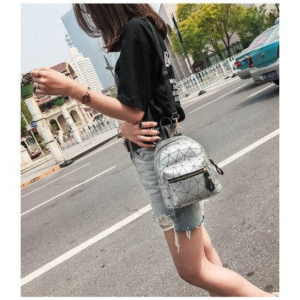 Women Korean Fashion  Mini Girl Small Sling Shoulder and Backpack