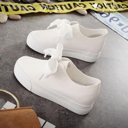 Women Korean Fashion Thick Bottom Summer Canvas Wild Shoes
