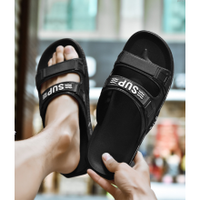 Men Korean Fashion Drag Style Beach Rubber Casual Slippers
