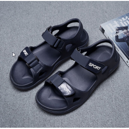Men High Quality Summer Plastic Beach  Anti Slip Hole Sandals