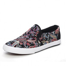 Men High Fashion Classic Pattern Printed Canvas Chinese Shoes