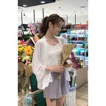 Women Summer  Thin White Chiffon  Fairy Lace Small Cardigan Shawl