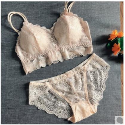 Women Fashionable Tube Top Vest Non Wire Lace Underwear