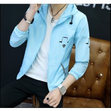 Men Korean Fashion Thin Summer Youth Trend Hooded Jacket