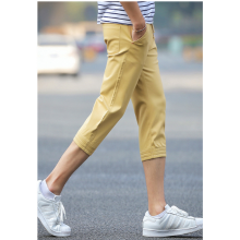 Men Korean Fashion Youth Trendy Summer Cotton Cropped Trouser