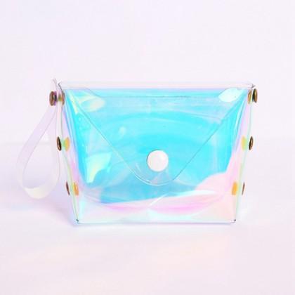 Women New Trendy Cute Heart Buckle Flip Simple Fashion Storage Bag