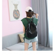 Women Korean Fashion New Wave Wild Style Casual Leather Backpack