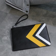 Men Fashion  Soft Leather New Casual Envelope Clutch Bag