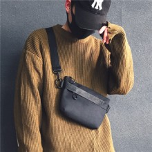 Men Street Fashion Soft Handl Canvas Messenger Cross body Bag
