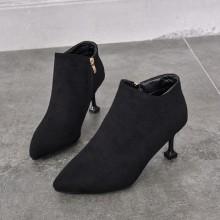 Women Korean Trend High Heeled Velvet Winter Fashion Boots