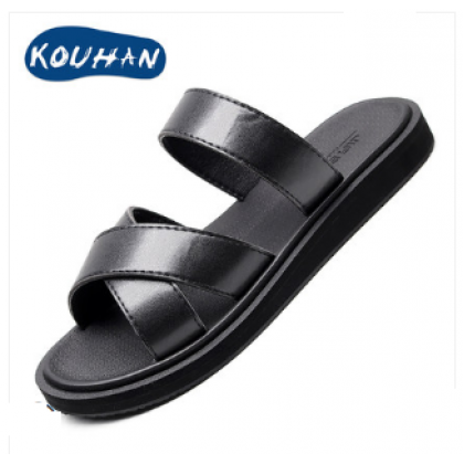 Men Fashion Summer Drag Style Color Matching Outdoor Slippers