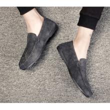 Men Korean Fashion  Wild Style Casual Velvet Lazy Peas Shoes