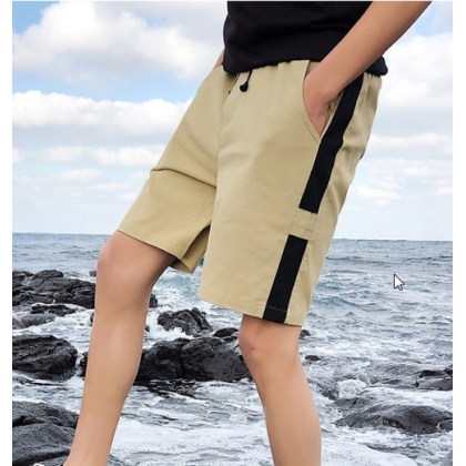 Men Korean Trend  Youth Style Loose Summer Casual SHorts
