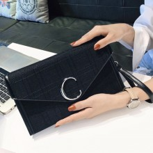Women Korean Fashion New Canvas Wild Style Messenger Clutch Bag