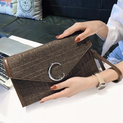 Women Korean Fashion New Canvas Wild Style Messenger Clutch Bag