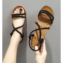 Women Korean Trend  Wild Style Fairy Flat Soft Bottom  Sandals