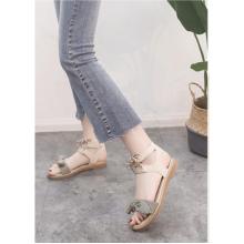 Women Korean Trend  Wild Style Fairy Cute Bow Flat Sandals