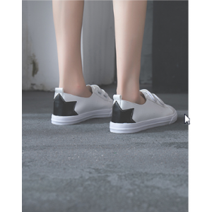 Women Korean Fashion Wild Super Fire Style Flat Lace Up Sneakers