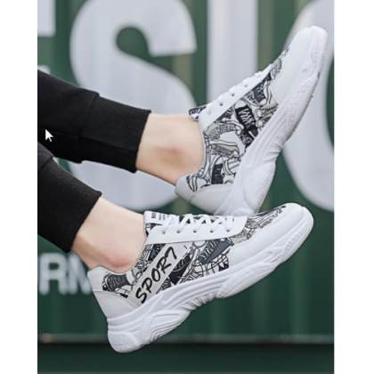 Men Korean Street Fashion Thick Bottom Wild Running Sport Shoes