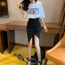 Women Korean Trend Pleated High Waist Wild Style Hip Skirt