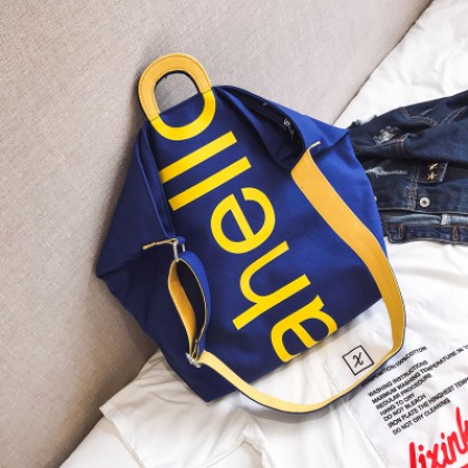 Women Korean Fashion Wild Style Chic  Canvas Messenger Shoulder Bag