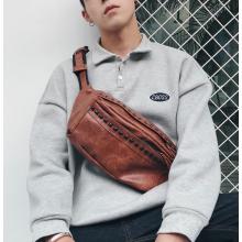 Men Fashion Trend Rivet Street Style Small Leather Sport Shoulder Bag