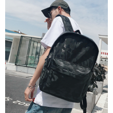 Men Fashion Trend Street Style Camouflage Large Travel Backpack