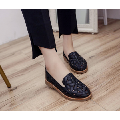 Women Fashion Hollow Casual Breathable Lazy Flat Shoes