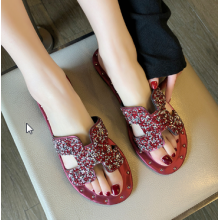 Women Korean Fashion Wild and Drag Style Hollow Out Slipper Sandals