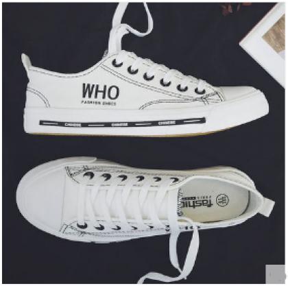 Men Korean Street Fashion Wild Style Low Cut Canvas Sneakers