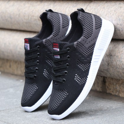 Men Korean Fashion Breathable Casual Mesh Running Shoes