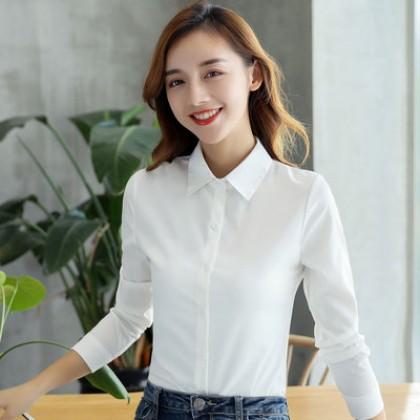 Women Korean Fashion Chiffon Long Sleeved Professional Shirt