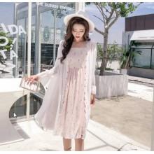 Women Korean Fashion Summer Chiffon Log Sleeved Fairy Shawl