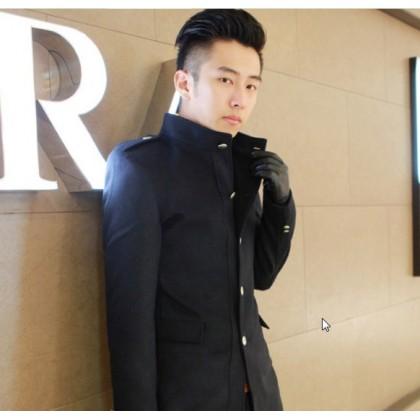 Men Korean Fashion Wool Woolen  Winter Thick Coat