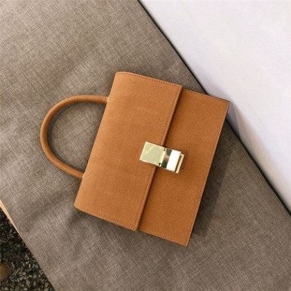 Women Korean Trend Retro Chic Style Matte Leather Handbag