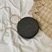 Women Korean Trend Sleek Minimalist Round Chain Shoulder Bag