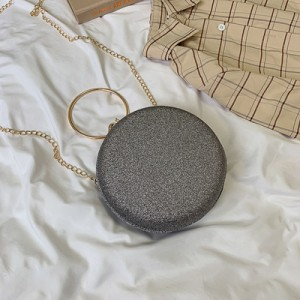 Women Korean Trend Sleek Minimalist Round Chain Shoulder Bag