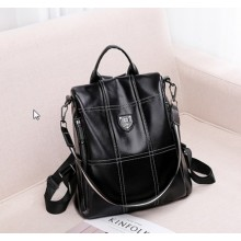 Women Korean Trend New Leather Anti Theft Travel Fashion Backpack