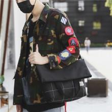 Men Fashion Casual And Portable Diagonal Canvas Sling Bag