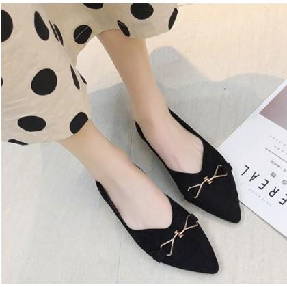 Women  Korean Fashion Wild Style Pointed Fairy Flat Shoes