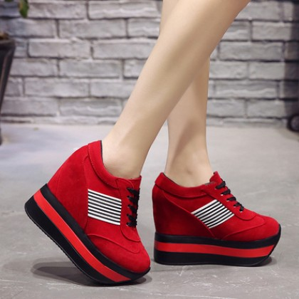 Women Korean Sexy Fashion Super Thick Soled Casual Sports Shoes
