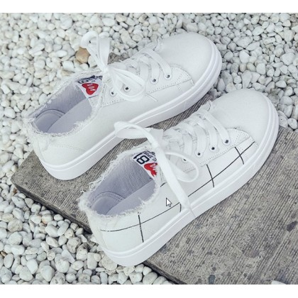 Women Korean Fashion Harajuku Style  Summer Casual Sneakers