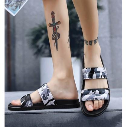Men Korean Fashion Summer Non Slip Camouflage Summer Sandals