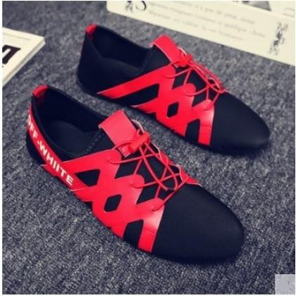 Men Korean Fashion Breathable Cloth Pedal Lazy Peas Shoes