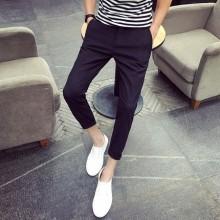 Men Korean Trend Slim Fit  Youth Style Cotton Beach Shorts
