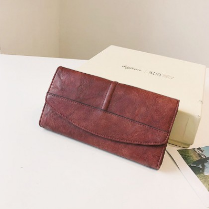 Women Korean Trend Long Section Multi Function Leather Wallet