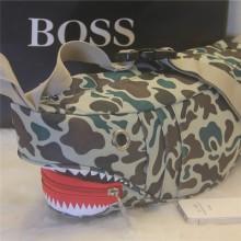 Men Fashion Special Canvas Shark Chest Pocket and Messenger Bag