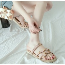 Women Fashion Thick Bottom Roman Style Wild Fairy Slippers