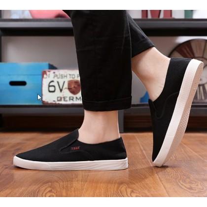 Men Korean Fashion Breathable Beijing Cloth Canvas Lazy Shoes